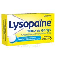 LysopaÏne Comprimés à Sucer Maux De Gorge Sans Sucre 2t/18 à BRUGES