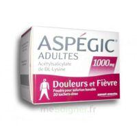 Aspegic Adultes 1000 Mg, Poudre Pour Solution Buvable En Sachet-dose 20 à BRUGES