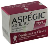 Aspegic Adultes 1000 Mg, Poudre Pour Solution Buvable En Sachet-dose 15 à BRUGES