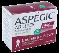 Aspegic Adultes 1000 Mg, Poudre Pour Solution Buvable En Sachet-dose 30 à BRUGES