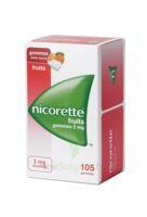Nicorette 2 Mg Gomme à Mâcher Médicamenteuse Sans Sucre Fruits Plq/105 à BRUGES