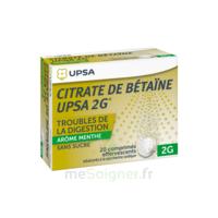 Citrate De Bétaïne Upsa 2 G Comprimés Effervescents Sans Sucre Menthe édulcoré à La Saccharine Sodique T/20 à BRUGES