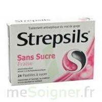 Strepsils Fraise Sans Sucre, Pastille édulcorée à L'isomalt, Au Maltitol Et à La Saccharine Sodique à BRUGES