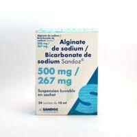 Alginate De Sodium/bicarbonate De Sodium Sandoz 500 Mg/267 Mg, Suspension Buvable En Sachet à BRUGES
