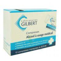 Alcool A Usage Medical Gilbert 2,5 Ml Compr Imprégnée 12sach à BRUGES