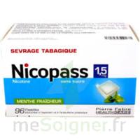 Nicopass 1,5 Mg Pastille Sans Sucre Menthe Fraîcheur Plq/96 à BRUGES