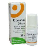 Cromabak 20 Mg/ml, Collyre En Solution à BRUGES