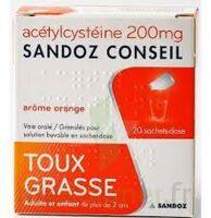Acetylcysteine Sandoz Conseil 200 Mg Glé Solution Buvable En Sachet-dose 20sach/1g à BRUGES