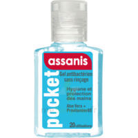 Assanis Pocket Gel antibactérien mains 20ml à BRUGES