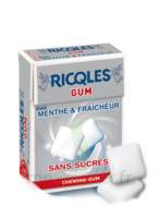 Ricqles Gum Chew gum dragée sans sucre blancheur hygiène B/24g à BRUGES