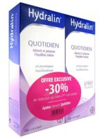 Hydralin Quotidien Gel lavant usage intime 2*200ml à BRUGES
