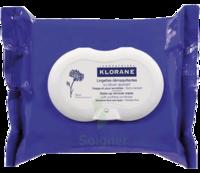Klorane Soins des Yeux au Bleuet Lingette démaquillante biodégradable Pack/25 à BRUGES
