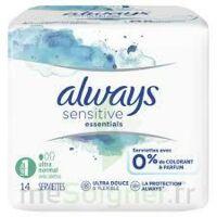 Always Serviettes Sensitive Essentials - Normal Plus à BRUGES