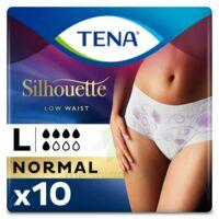 Tena Lady Silhouette Slip Absorbant Blanc Normal Large Paquet/10 à BRUGES